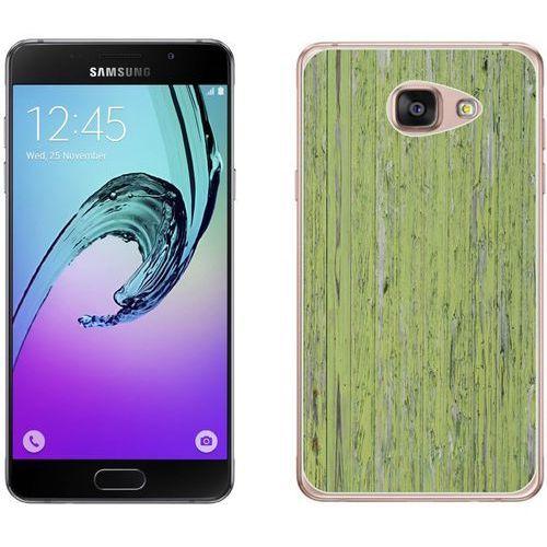 Samsung Galaxy A3 2017 - etui na telefon - Kolekcja drewno - panele zielone - B21