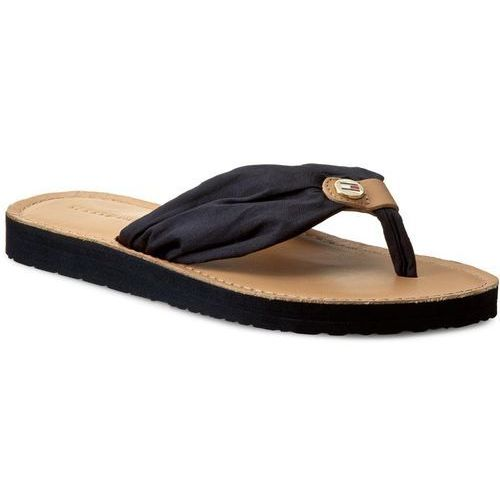 e875633b76f87 Tommy hilfiger Japonki - leather footbed beach sandal fw0fw00475 midnight  403