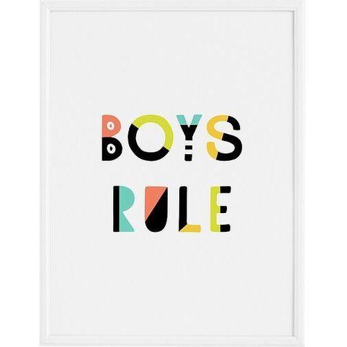 Follygraph Plakat boys rule 21 x 30 cm