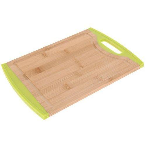 Deska kuchenna do krojenia z bambusowa z dodatkiem tworzywa sztucznego z zielonym dodatkami