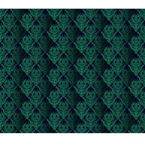 Consalnet Fototapeta tradycyjne kwiatowe wzory – zielone na czarnym tle 1462