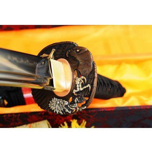 Miecz samurajski wakizashi do treningu, stal wysokowęglowa 1095, hartowana glinką, r323 marki Kuźnia mieczy samurajskich
