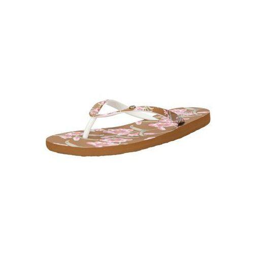Roxy klapki 'portofino ii' brązowy / różowy pudrowy