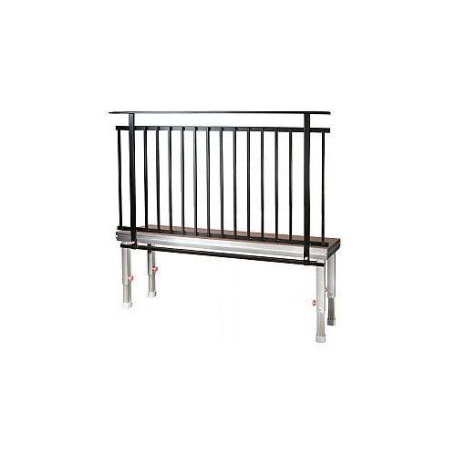 spz 0078 - guardrail 2 x 1.1 m (din 4112), barierka do podestów scenicznych wyprodukowany przez 2m