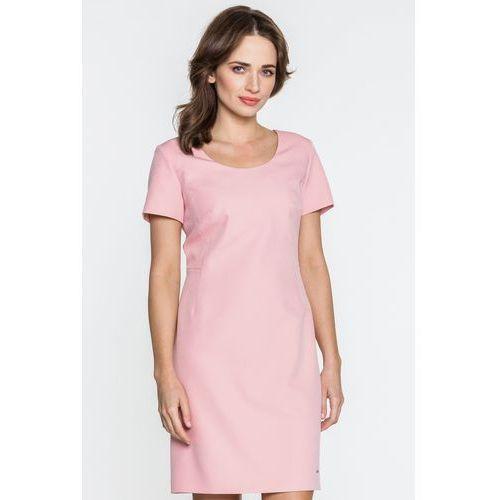 Różowa sukienka - Sobora, kolor różowy