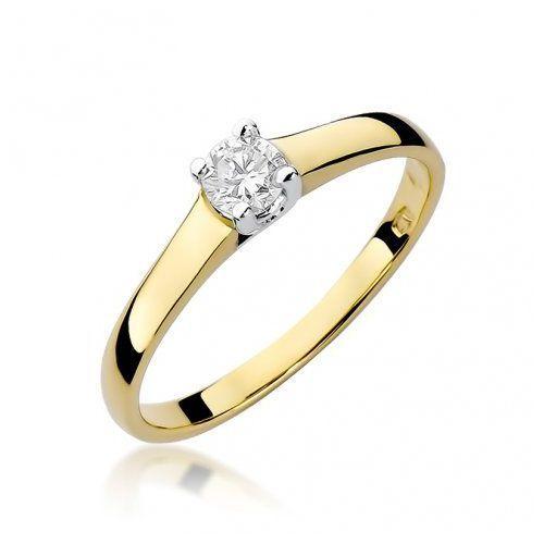 Saxo Biżuteria 14k pierścionek z brylantem 0,20ct w-239 złoty