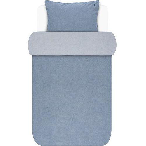 Marc o'polo Pościel batystowa niebieska 140 x 220 cm z poszewką na poduszkę 60 x 70 cm (8715944621205)