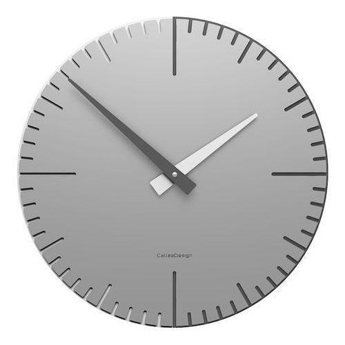 Zegar ścienny do nowoczesnego salonu exacto 36 cm aluminium (10-025-2) marki Calleadesign