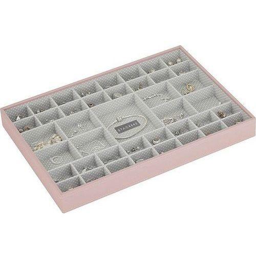 Pudełko na biżuterię 41 komorowe supersize jasnoróżowe marki Stackers