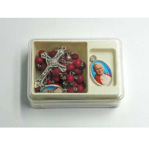 Różaniec kpl. różany z medalikiem Św. Jana Pawła II (5902983911050)