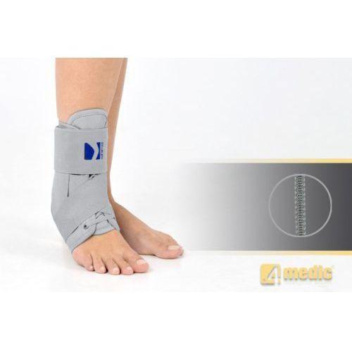 Sznurowana orteza stawu skokowego obejmująca goleń i stopę z fiszbinami ortopedycznymi - Orteza kostki AM-OSS-13 (stabilizator i usztywniacz)