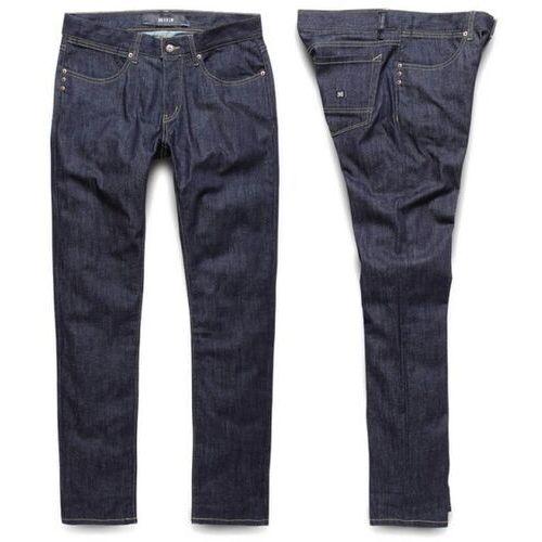 spodnie KREW - K Sklim Taper Denim Raw Blue (RAW), kolor niebieski