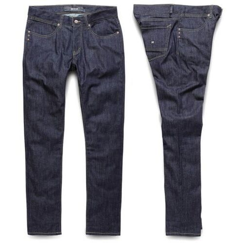 spodnie KREW - K Sklim Taper Denim Raw Blue (RAW) rozmiar: 28, kolor niebieski