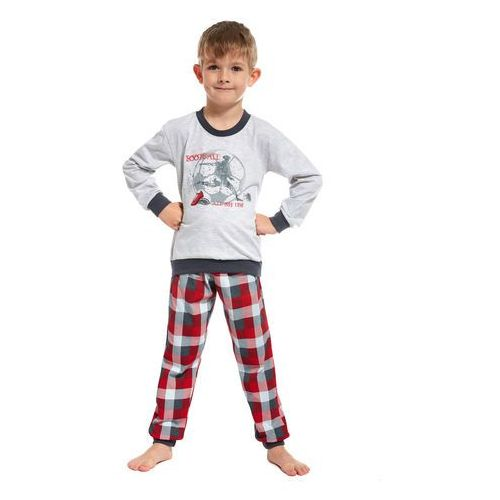 Piżama Cornette Kids Boy 593/66 All My Life dł/r N 110-116, szary melange, Cornette, 762024647
