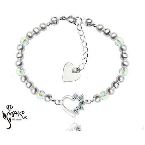 927/7 komplet swarovski elements srebro 925 urodziny komunia marki Mak-biżuteria