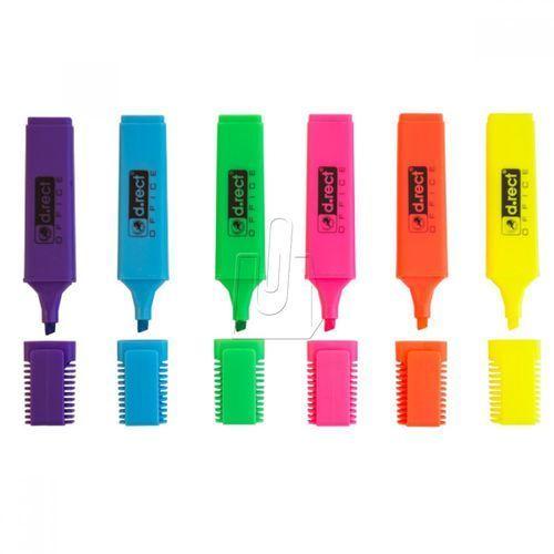 D. rect Zakreślacze d.rect 1127 zestaw 6 kolorów (5907674354864)