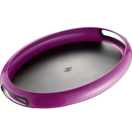 Taca owalna z uchwytami i gumowym wnętrzem fioletowa Spacy Wesco (322102-36) (4004519072431)