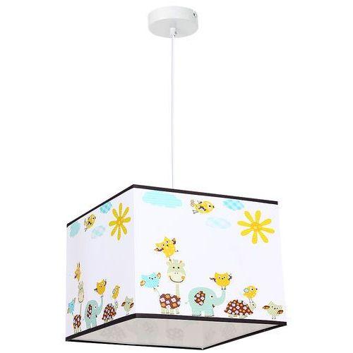 Luminex Lampa wisząca kid animals 8809 lampa sufitowa dziecięca 1x60w e27 biała / kolorowa (5907565988093)