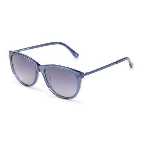 Okulary przeciwsłoneczne damskie l812s niebieskie marki Lacoste