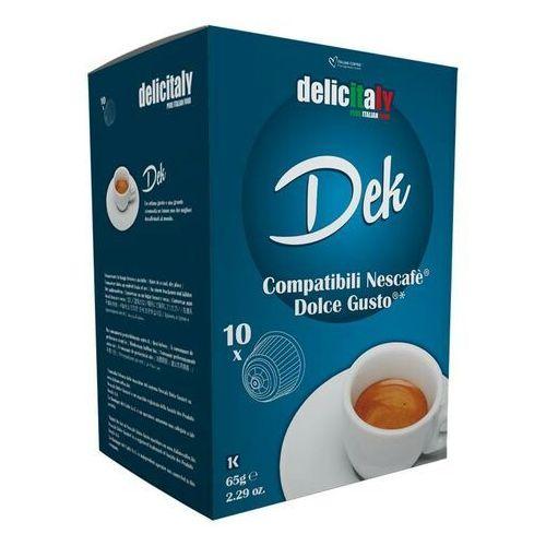 Delicitaly dek (kawa bezkofeinowa) kapsułki do dolce gusto – 10 kapsułek marki Nespresso kapsułki