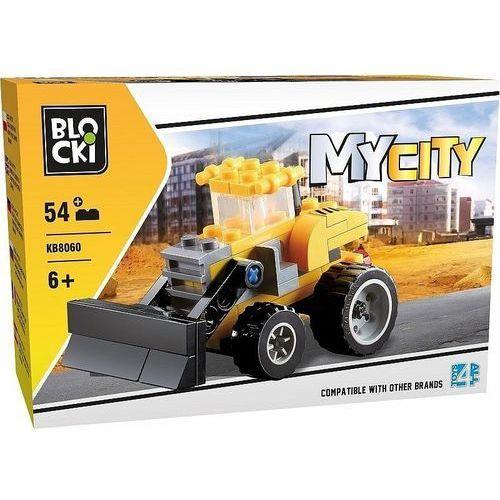 Klocki Blocki Na budowie spychacz 54 elementy