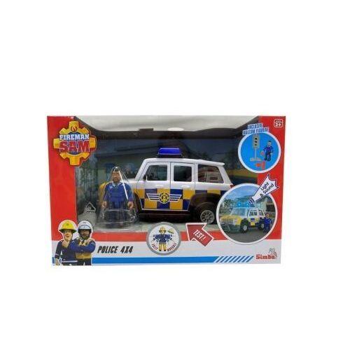 Jeep policyjny z figurką. strażak sam, 1092510960