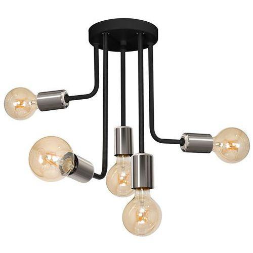 Luminex Candela 7685 plafon lampa sufitowa 5x60W E27 czarny / chrom, 7685