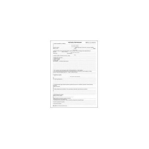Firma krajewski Protokół powypadkowy (dla ucznia) [men-iv/18] wersja elektroniczna