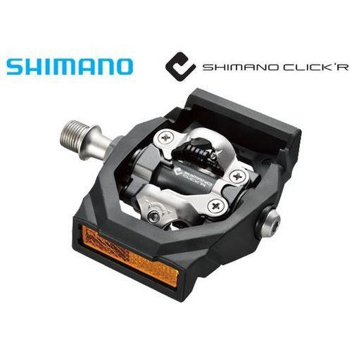EPDT700 Pedały Shimano SPD Click'r PD-T700 + bloki i odblaski