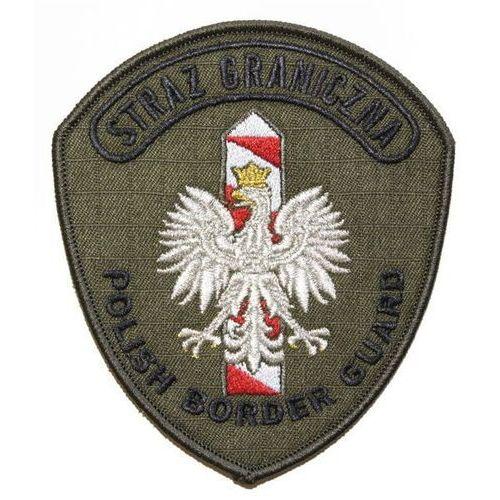 """Sortmund Emblemat naramienny straży granicznej """"polish border guard"""" - służbowy oliwkowy"""