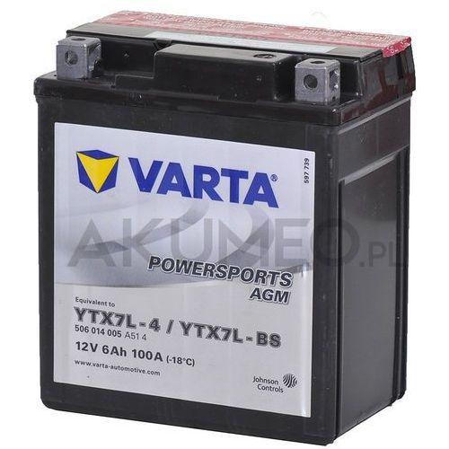 Akumulator VARTA Powersports AGM YTX7L-BS 12V 6Ah 100A prawy+