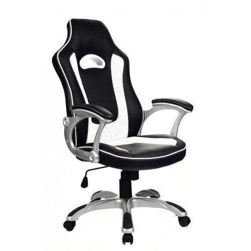 Zenga.pl Fotel obrotowy gamingowy m3 black/white