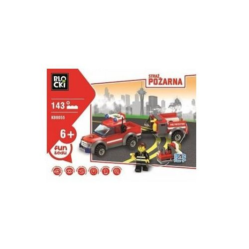 OKAZJA - Klocki Blocki Straż Pożarna Samochód z Przyczepą 143 Elementy