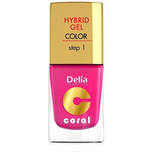Delia Cosmetics Coral Nail Enamel Hybrid Gel żelowy lakier do paznokci odcień 03 (Step 1) 11 ml (5901350453766)
