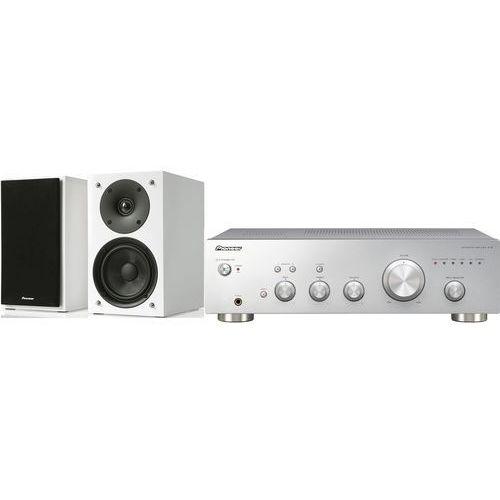 Zestaw stereo a10aes + pioneer s-p01-lrw biały marki Pioneer