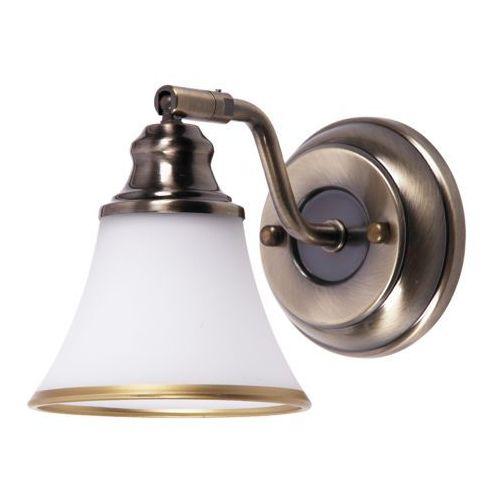 Kinkiet lampa oprawa Rabalux Grando 1x40W E14 mosiądz/biały 6545