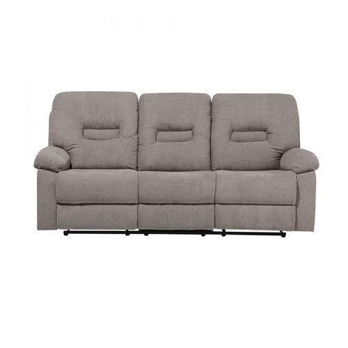 Blmeble Sofa trzyosobowa tapicerowana beżowoszara rozkładana rinoceronte