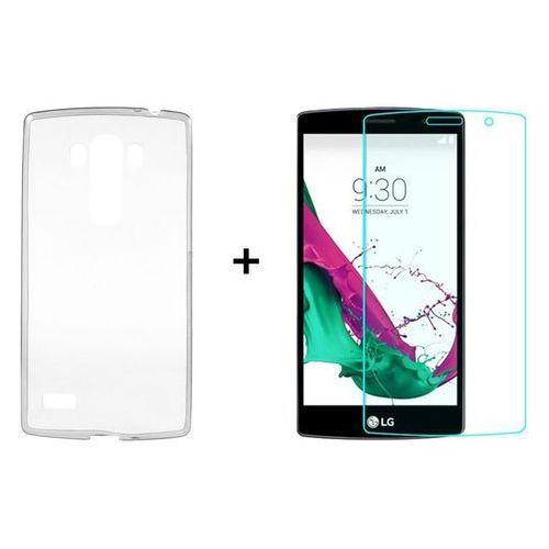 Ultra slim / perfect glass Zestaw obudowa ultra slim przezroczysta + szkło ochronne perfect glass lg g4s / lg g4 beat