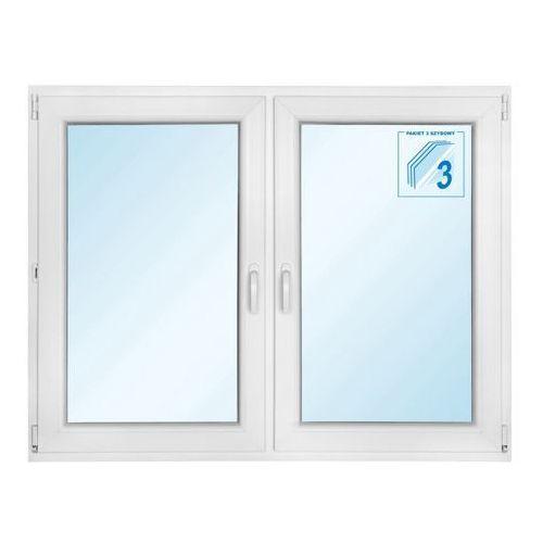 Okno PCV rozwierne + rozwierno-uchylne trzyszybowe 1465 x 1135 mm symetryczne (5908275610144)