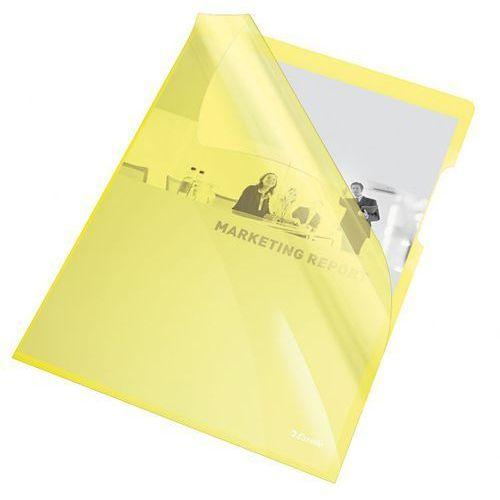 Ofertówka krystaliczna L Esselte 55431 A4/25szt.,150mic. żółta