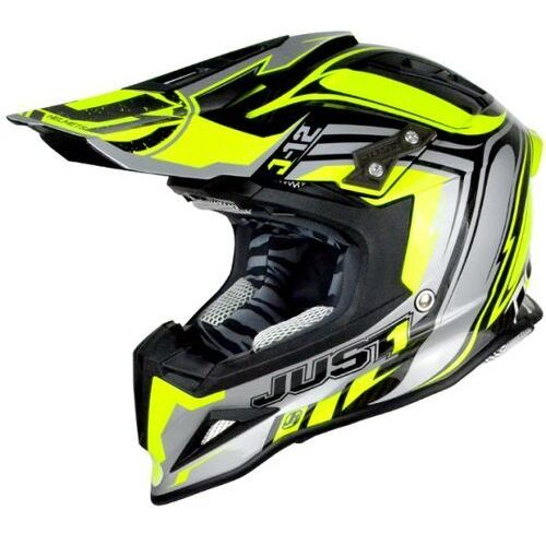 Just1 Kask j12 flame yellow-black