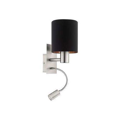 Eglo Kinkiet pasteri 96483 lampa ścienna 1x40w e27 + 1x3,5w led czarny/miedź/nikiel (9002759964832)