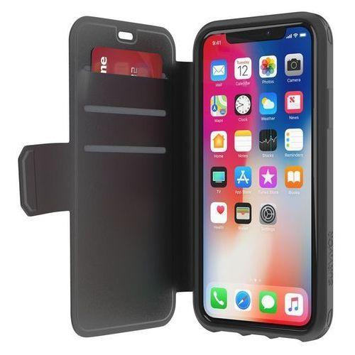 Griffin survivor strong wallet etui z kieszeniami na karty iphone x (czarny/szary)