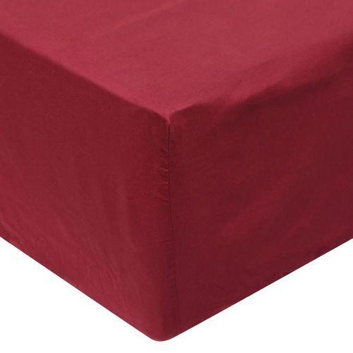 vidaXL Prześcieradła z gumką 90 x 220 cm, bawełna, burgundowe, 2 szt. (8718475515005)