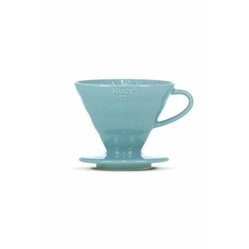 Ceramiczny dripper v60-02 niebieski + 40 szt. filtrów marki Hario