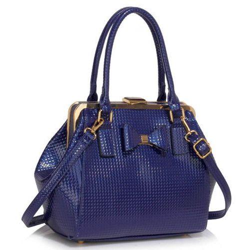 Wielka brytania Lakierowany kuferek z kokardką niebieski - niebieski