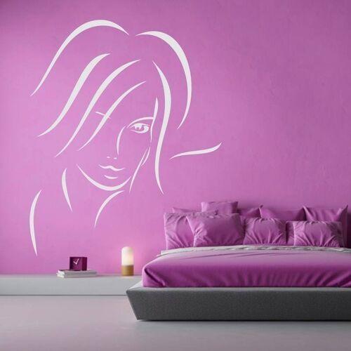 Naklejka dekoracyjna kobieca twarz 2033 marki Wally - piękno dekoracji