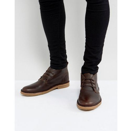 royce leather desert boots in brown - brown, Selected homme