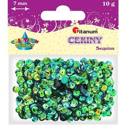 Titanum Cekiny 7mm łamane perł niebieskie 10gram craft-fun