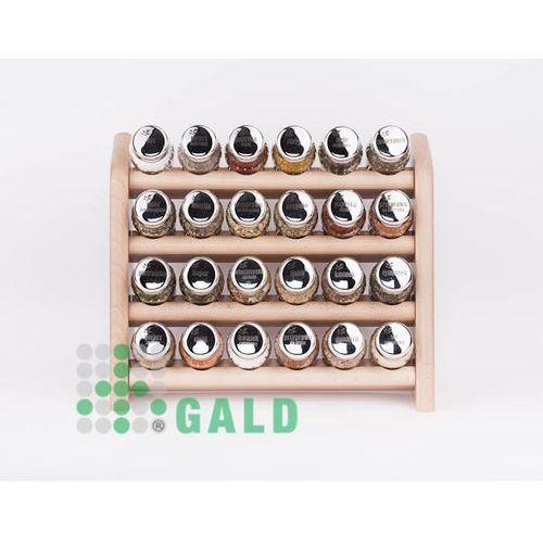 półka z przyprawami 24-el jasne drewno połysk 5901832920724 marki Gald